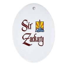 Sir Zackary Oval Ornament