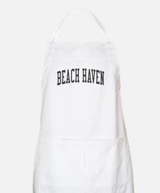 Beach Haven New Jersey NJ Black BBQ Apron