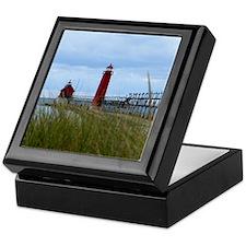 Lighthouses of Grand Haven Keepsake Box