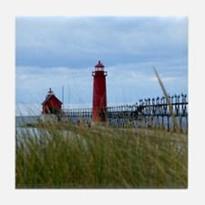 Lighthouses of Grand Haven Tile Coaster