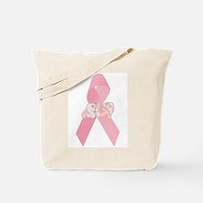Breast Cancer Ribbon & Baby Tote Bag