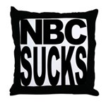 NBC Sucks Throw Pillow