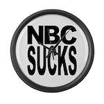 NBC Sucks Large Wall Clock