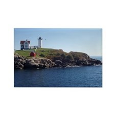 Nubble Lighthouse Rectangle Magnet