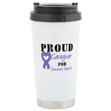 Caregiver Purple Ribbon Travel Mug