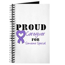 Caregiver Purple Ribbon Journal