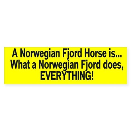 A Fjord Horse does everything