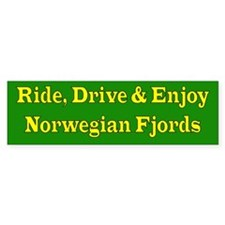 Ride drive enjoy (green & yellow)