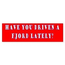 Have you driven a fjord (red)
