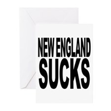 New England Sucks Greeting Cards (Pk of 20)
