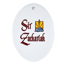 Sir Zachariah Oval Ornament