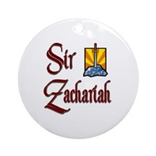 Sir Zachariah Ornament (Round)