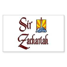 Sir Zachariah Rectangle Decal