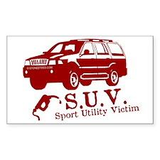 S.U.V. - Sport Utility Victim Sticker (Rectangular