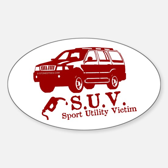 S.U.V. - Sport Utility Victim Oval Decal