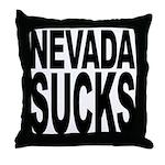 Nevada Sucks Throw Pillow