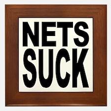 Nets Suck Framed Tile