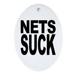 Nets Suck Oval Ornament