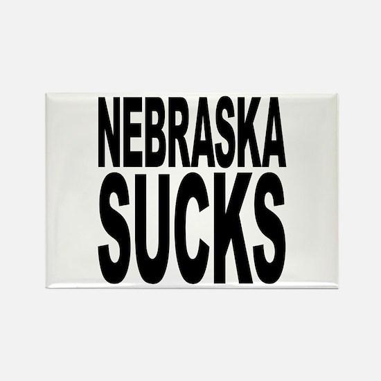 Nebraska Sucks Rectangle Magnet