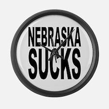 Nebraska Sucks Large Wall Clock