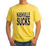 Country music sucks Mens Yellow T-shirts