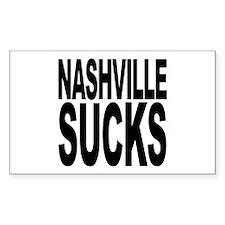 Nashville Sucks Rectangle Decal
