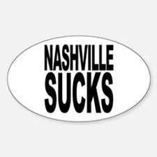Nashville Sucks Oval Decal
