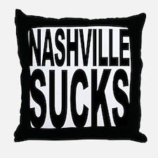 Nashville Sucks Throw Pillow