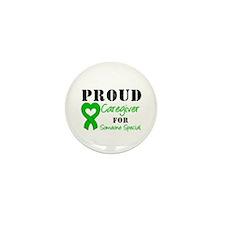 Caregiver Green Ribbon Mini Button (10 pack)