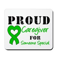 Caregiver Green Ribbon Mousepad
