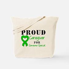 Caregiver Green Ribbon Tote Bag