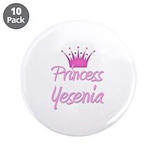 "Princess Yesenia 3.5"" Button (10 pack)"