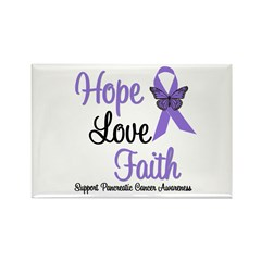 Hope Faith Pancreatic Cancer Rectangle Magnet (10