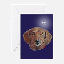 Dachshund Star Greeting Cards (Pk of 10)