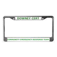 Downey CERT License Plate Frame