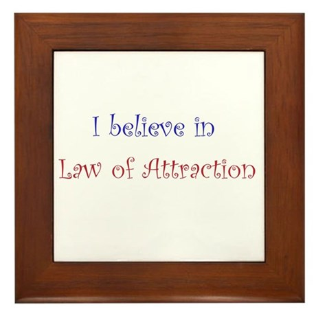 Law of Attraction Framed Tile