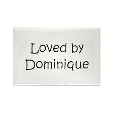 Cute Dominique Rectangle Magnet