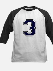 NUMBER 3 FRONT Kids Baseball Jersey