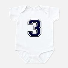 NUMBER 3 FRONT Infant Bodysuit