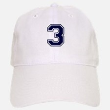 NUMBER 3 FRONT Baseball Baseball Cap