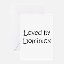 Cute Dominick name Greeting Card