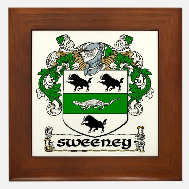 Sweeney Coat of Arms Framed Tile