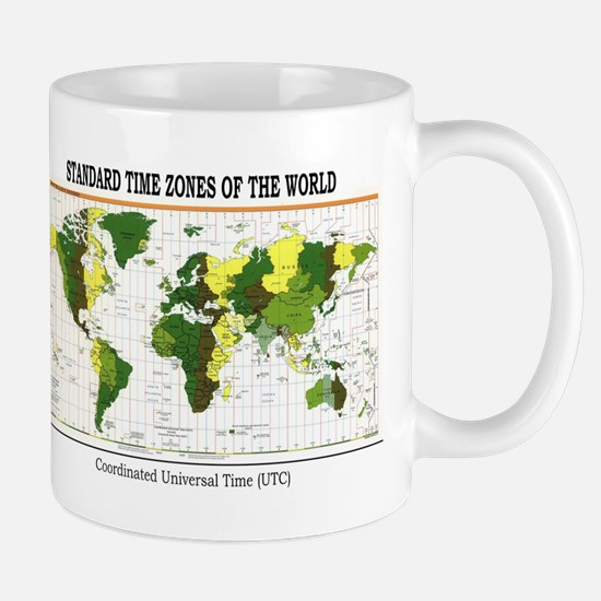World Time Zone Map Mug