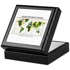 World Time Zone Map Keepsake Box