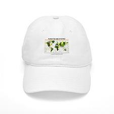 World Time Zone Map Baseball Cap