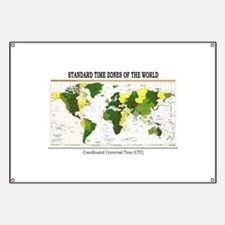 World Time Zone Map Banner