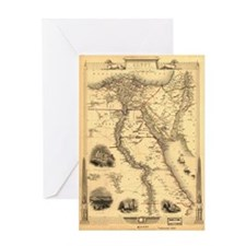 Ancient Egypt Map Greeting Card