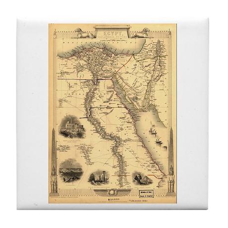 Ancient Egypt Map Tile Coaster
