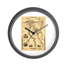 Ancient Egypt Map Wall Clock