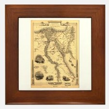 Ancient Egypt Map Framed Tile
